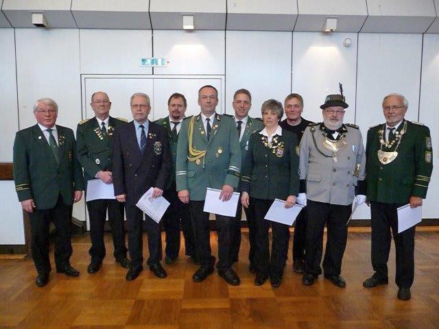 KSV Uelzen - Auszeichnungen für verdiente Schützen auf Jahresversammlung 2016