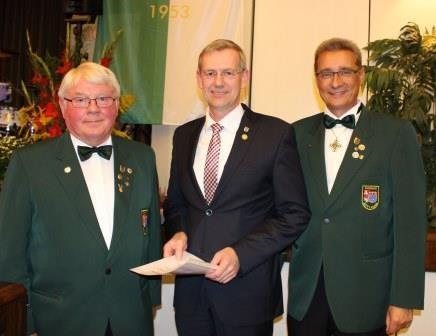 KSV Schützenball 2015 - Landrat Dr. Blume ausgezeichnet mit Goldener Präsidentennadel