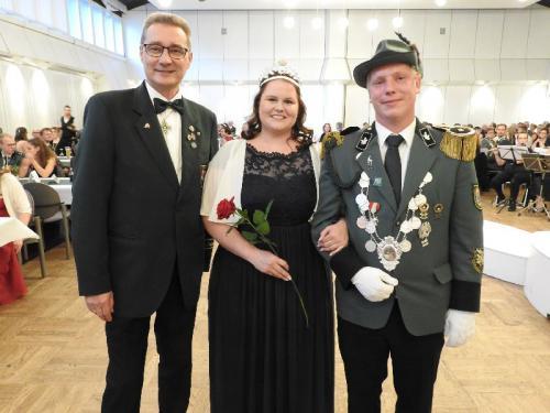 KSV Uelzen - Königsball 2019 - Flaggenhissen und Einmarsch Majestäten